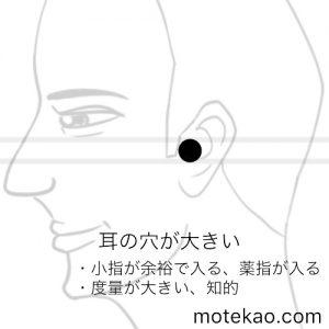 耳の穴が大きい