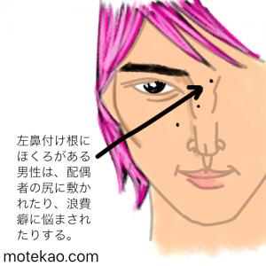 横浜流星さん左鼻付け根ほくろ